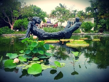 The Miami Beach Botanical Gardens are part of the wonderful cultural scene to be found in this beach community